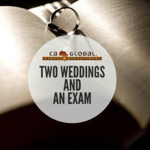 Two weddings and an exam